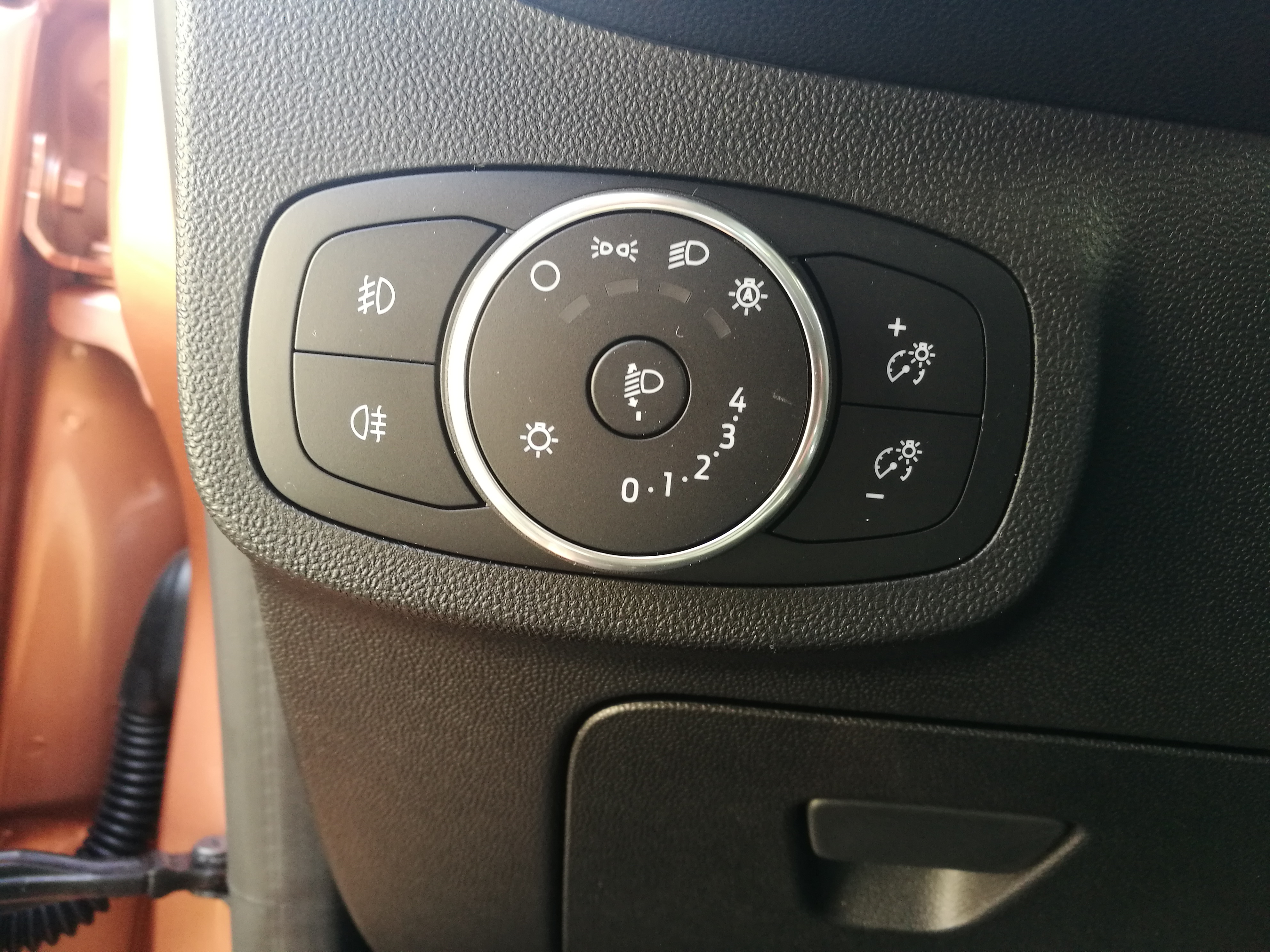 Controle in de auto; verlichting