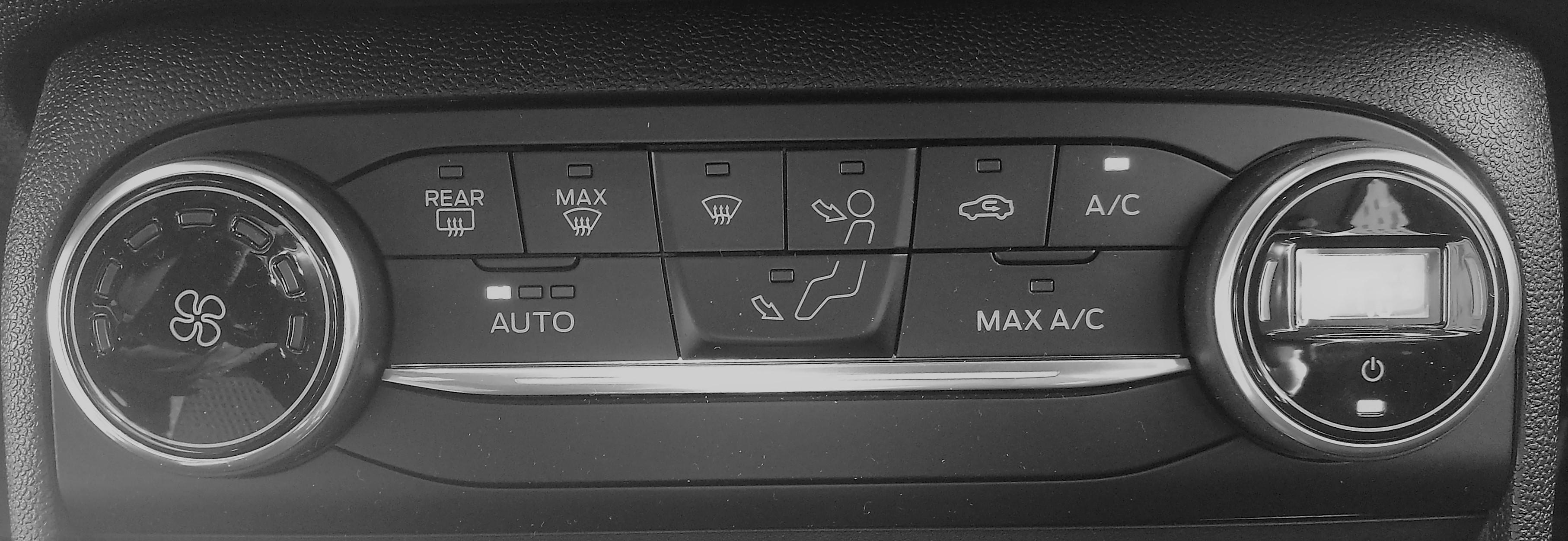 Controle in de auto; verwarming